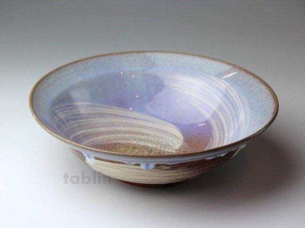 Photo1: Hagi ware Japanese Serving bowl Sky W215mm