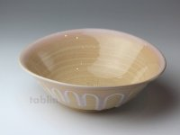 Hagi ware Japanese Serving bowl Shizuku Dew W195mm