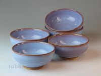 Hagi ware Japanese bowls Coloring glaze W120mm set of 5