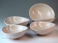 Hagi ware Japanese bowls Elegance W130mm set of 5