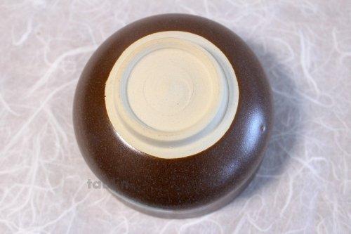 Other Images1: Kiyomizu Kyoto porcelain Japanese matcha tea bowl chawan Rinzan brown