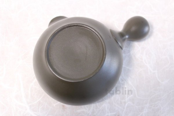 Photo5: Tokoname yaki ware Japanese Yusamashi tea tool for Sencha kurodei 240ml