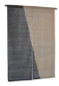 Noren Mitsuru Japanese linen door curtain Kakishibu tetsu somewake 88 x 150cm