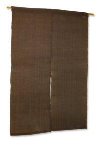 Noren Mitsuru Japanese linen door curtain Kakishibu kurogaki 88 x 150cm