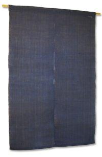 Noren Mitsuru Japanese linen door curtain Kakishibu aizumi kon 88 x 150cm