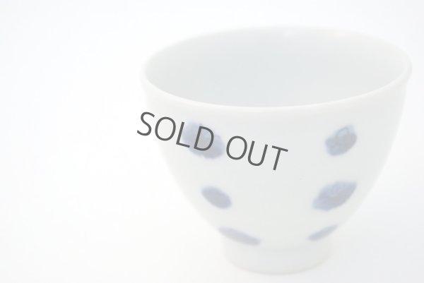 Photo4: Arita porcelain Japanese sake bottle & cups set plum follower blue dot tamori