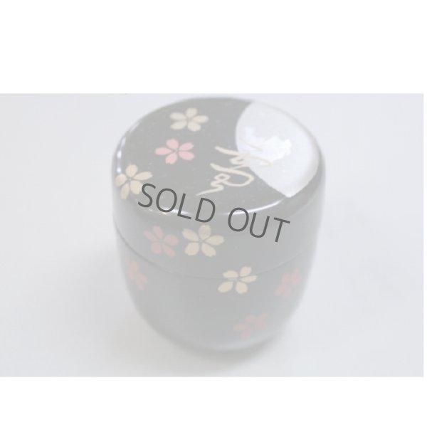 Photo1: Tea Caddy Japanese Natsume Echizen Urushi lacquer Matcha container yukigekka