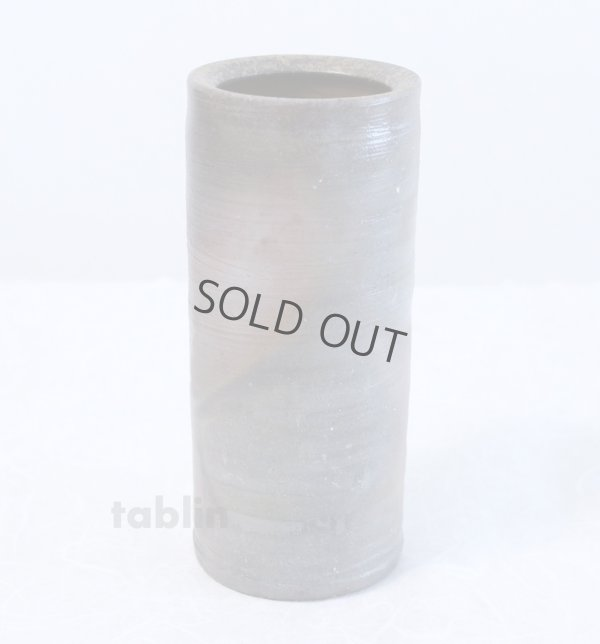Photo1: Bizen yaki ware High Quality Japanese vase traditional tutubana H18cm