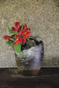 Shigaraki pottery Japanese vase teoke seki haze H18cm