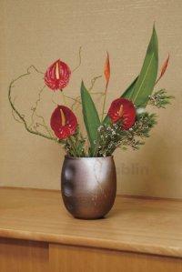 Shigaraki pottery Japanese vase tetsuaka hamon H19cm