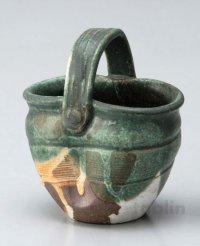 Shigaraki pottery Japanese small vase hanakago H 110mm