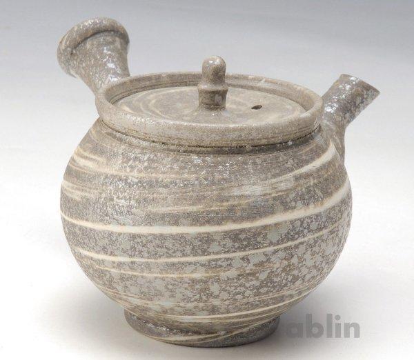 Photo1: Shigaraki pottery Japanese tea pot kyusu Nerikomi pottery tea strainer 400ml