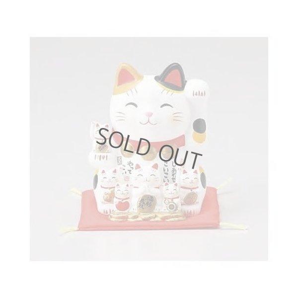 Photo5: Japanese Lucky Cat Tokoname yaki ware Porcelain Maneki Neko Nishikisai 5.3inch