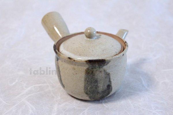 Photo1: Shigaraki Japanese tea pot kyusu sode pottery tea strainer 230ml