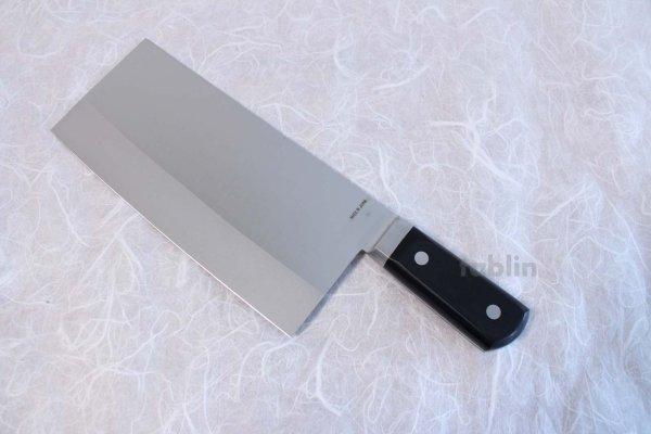 Photo3: SAKAI TAKAYUKI CHINESE CLEAVER KNIFE N08 INOX Special stainless steel