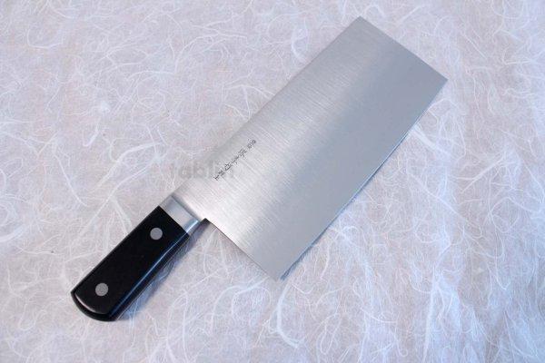Photo2: SAKAI TAKAYUKI CHINESE CLEAVER KNIFE N08 INOX Special stainless steel