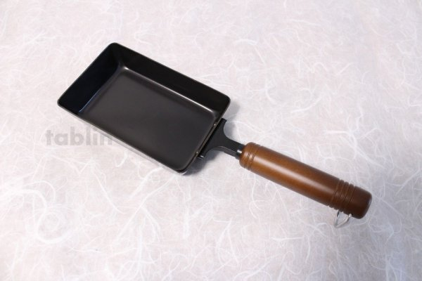 Photo2: Japanese Tamagoyaki Omelette Egg Frying Pan wooden handle wahei 15 made in Japan