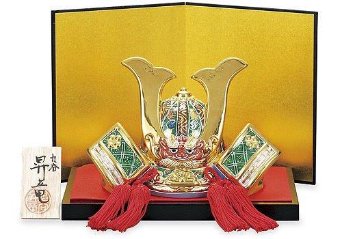 Other Images1: Kutani yaki ware Porcelain Kabuto samurai warrior helmet sakari