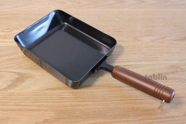 Photo3: Japanese Tamagoyaki Omelette Egg Frying Pan wooden handle Wahei made in Japan