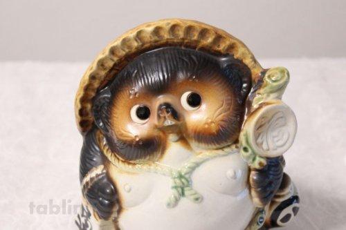 Other Images2: Shigaraki pottery Japanese Tanuki Cute Raccoon Dog fukufuku H19cm