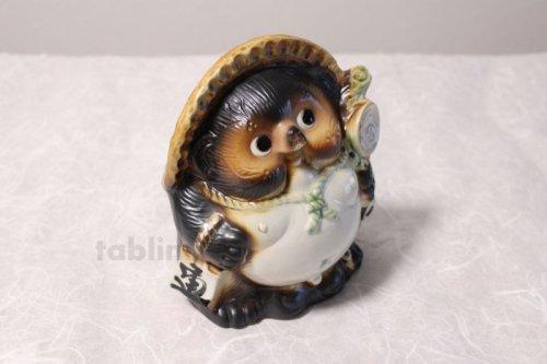 Other Images3: Shigaraki pottery Japanese Tanuki Cute Raccoon Dog fukufuku H19cm
