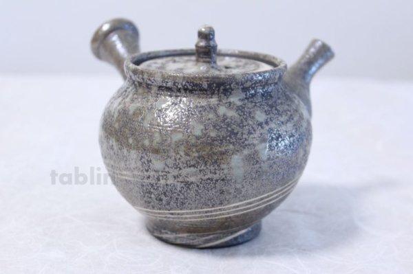 Photo3: Shigaraki pottery Japanese tea pot kyusu Nerikomi pottery tea strainer 400ml