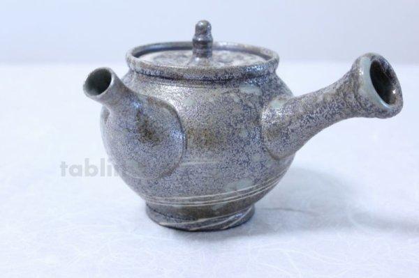 Photo2: Shigaraki pottery Japanese tea pot kyusu Nerikomi pottery tea strainer 400ml