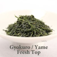 High class Japanese green tea leaves Gyokuro Fresh top in Yame Fukuoka 100g