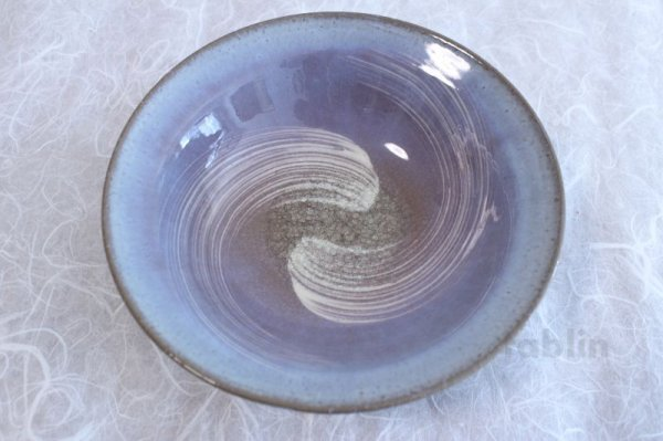 Photo3: Hagi ware Japanese Serving bowl Sky W215mm