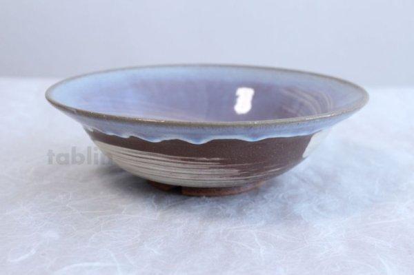 Photo2: Hagi ware Japanese Serving bowl Sky W215mm