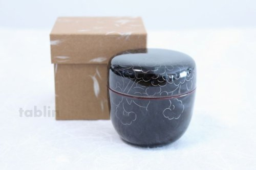 Other Images3: Tea Caddy Japanese Natsume Echizen Urushi lacquer Matcha container peony pattern