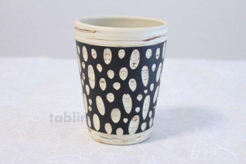 Other Images2: Tokoname Japanese pottery mug cup black Kenji kiln H10.5cm