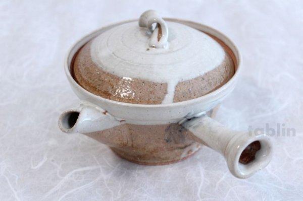 Photo2: Shigaraki pottery Japanese tea pot kyusu Usugesho pottery tea strainer 500ml
