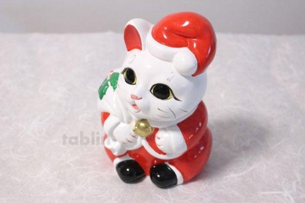 Photo3: Japanese Lucky Cat Tokoname ware YT Porcelain Maneki Neko Santa Claus H19cm
