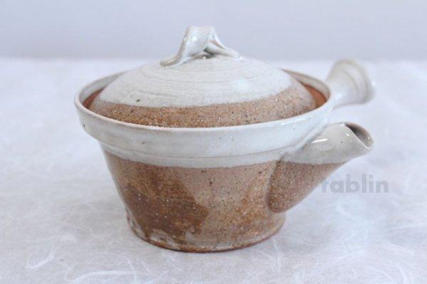 Photo4: Shigaraki pottery Japanese tea pot kyusu Usugesho pottery tea strainer 500ml