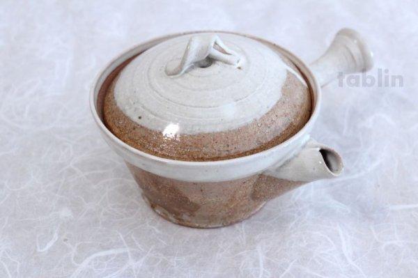 Photo1: Shigaraki pottery Japanese tea pot kyusu Usugesho pottery tea strainer 500ml