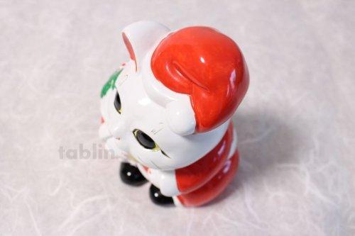 Other Images3: Japanese Lucky Cat Tokoname ware YT Porcelain Maneki Neko Santa Claus H19cm