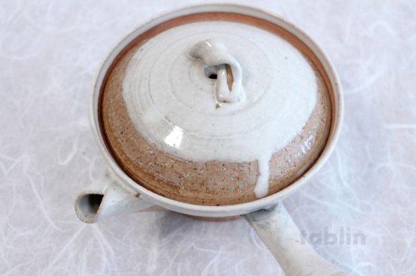 Photo5: Shigaraki pottery Japanese tea pot kyusu Usugesho pottery tea strainer 500ml