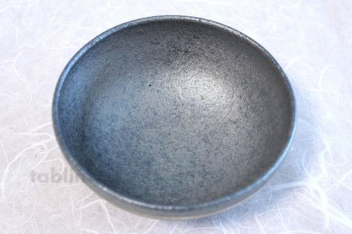 Other Images1: Shigaraki pottery Japanese soup noodle serving bowl Ginsai line D140mm