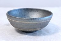 Shigaraki pottery Japanese soup noodle serving bowl Ginsai line D140mm