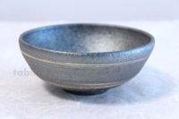 Shigaraki pottery Japanese soup noodle serving bowl Ginsai line D140mm
