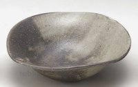 Shigaraki pottery Japanese soup noodle serving bowl hai tawami D190mm
