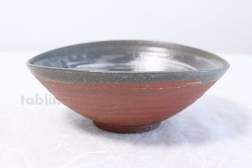 Other Images2: Shigaraki pottery Japanese soup noodle serving bowl akane tawami D200mm