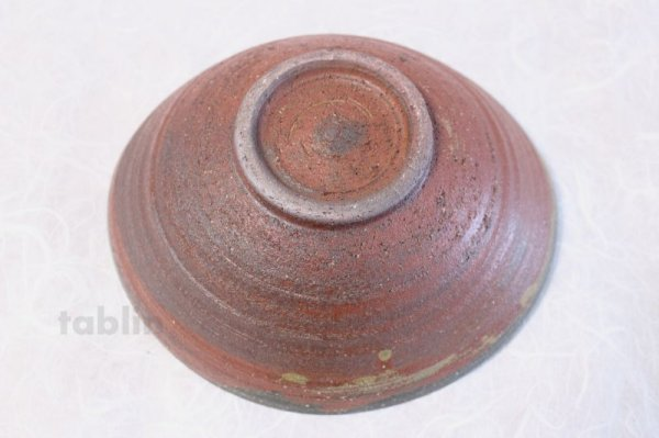 Photo4: Shigaraki pottery Japanese soup noodle serving bowl akane tawami D200mm