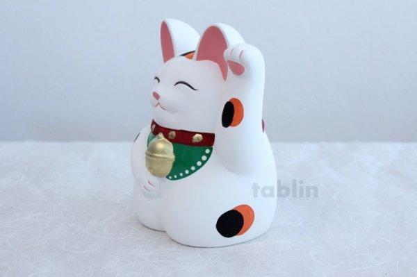 Photo2: Japanese Lucky Cat Tokoname YT Porcelain Maneki Neko Mansuke left hand H21cm