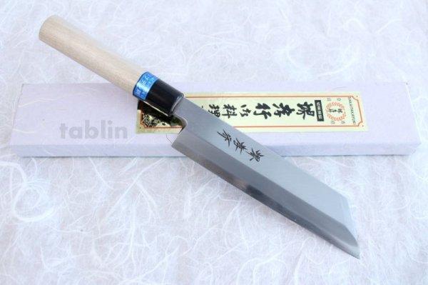Photo1: SAKAI TAKAYUKI Japanese knife INOX stainless Magnolia wood Mukimono kiritsuke