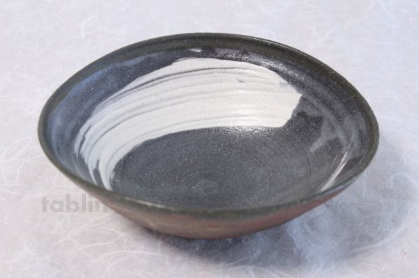 Photo1: Shigaraki pottery Japanese soup noodle serving bowl akane tawami D200mm