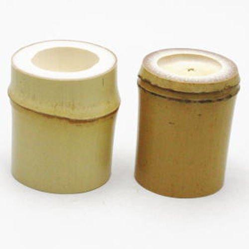 Other Images3: Japanese Bamboo Futaoki for tea ceremony Yasaburo Suikaen Furo and Ro set of 2