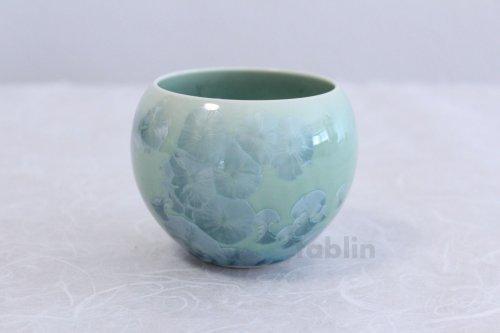 Other Images2: Kiyomizu Kyoto porcelain Hana-crystal Toua Japanese tea cup (set of 5)