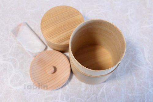 Other Images1: Tea Caddy Japanese tea container Akita Magewappa sugi cedar C150g
